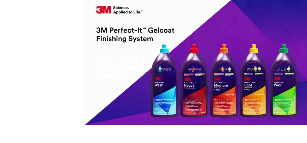 3M Marine Gelcoat finishing system